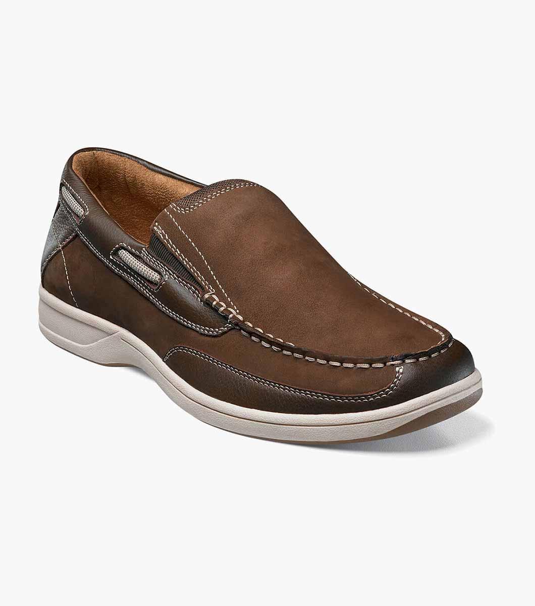 Lakeside Moc Toe Leather Casual Slip On