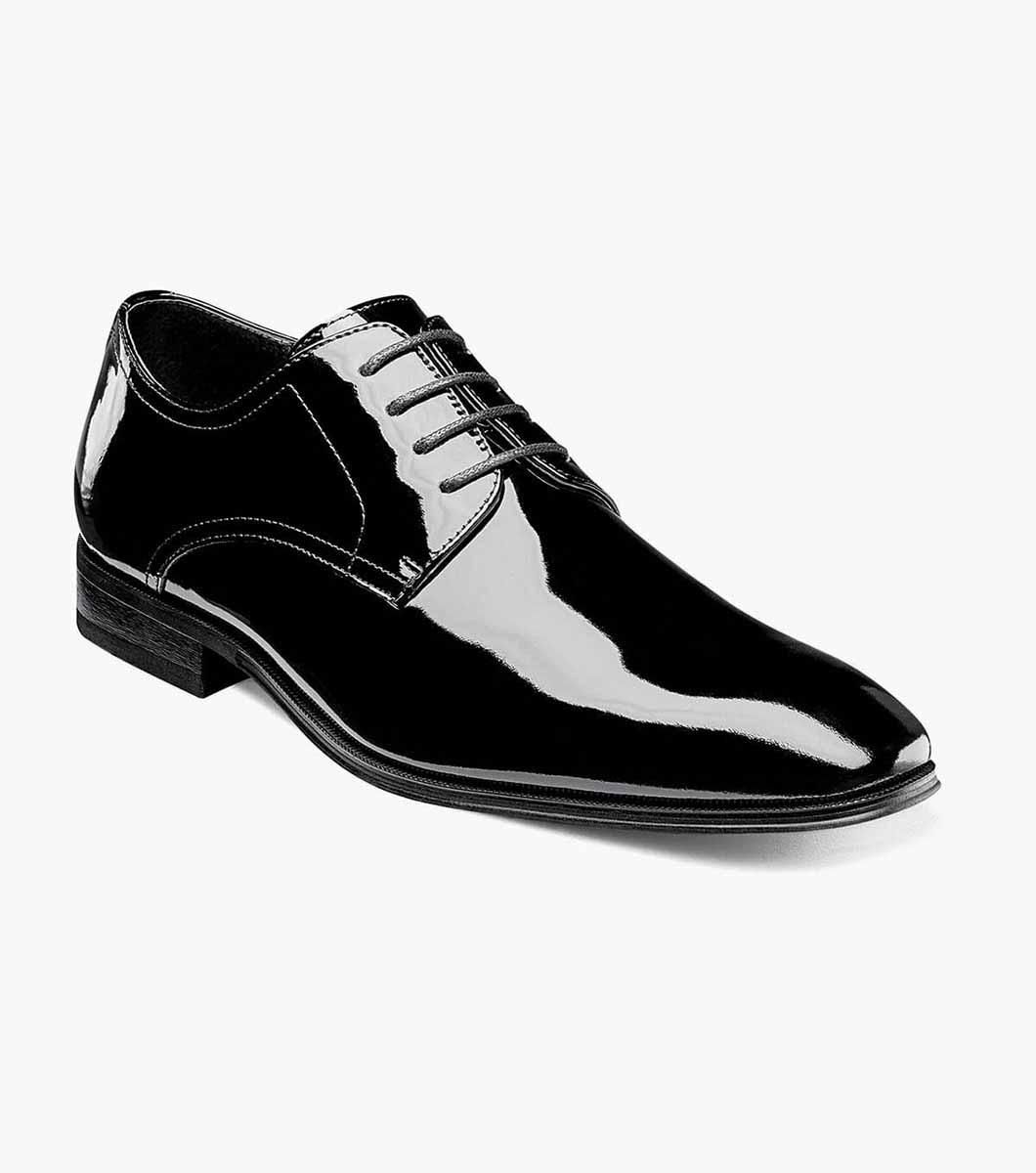 Black Patent Plain Toe Oxford