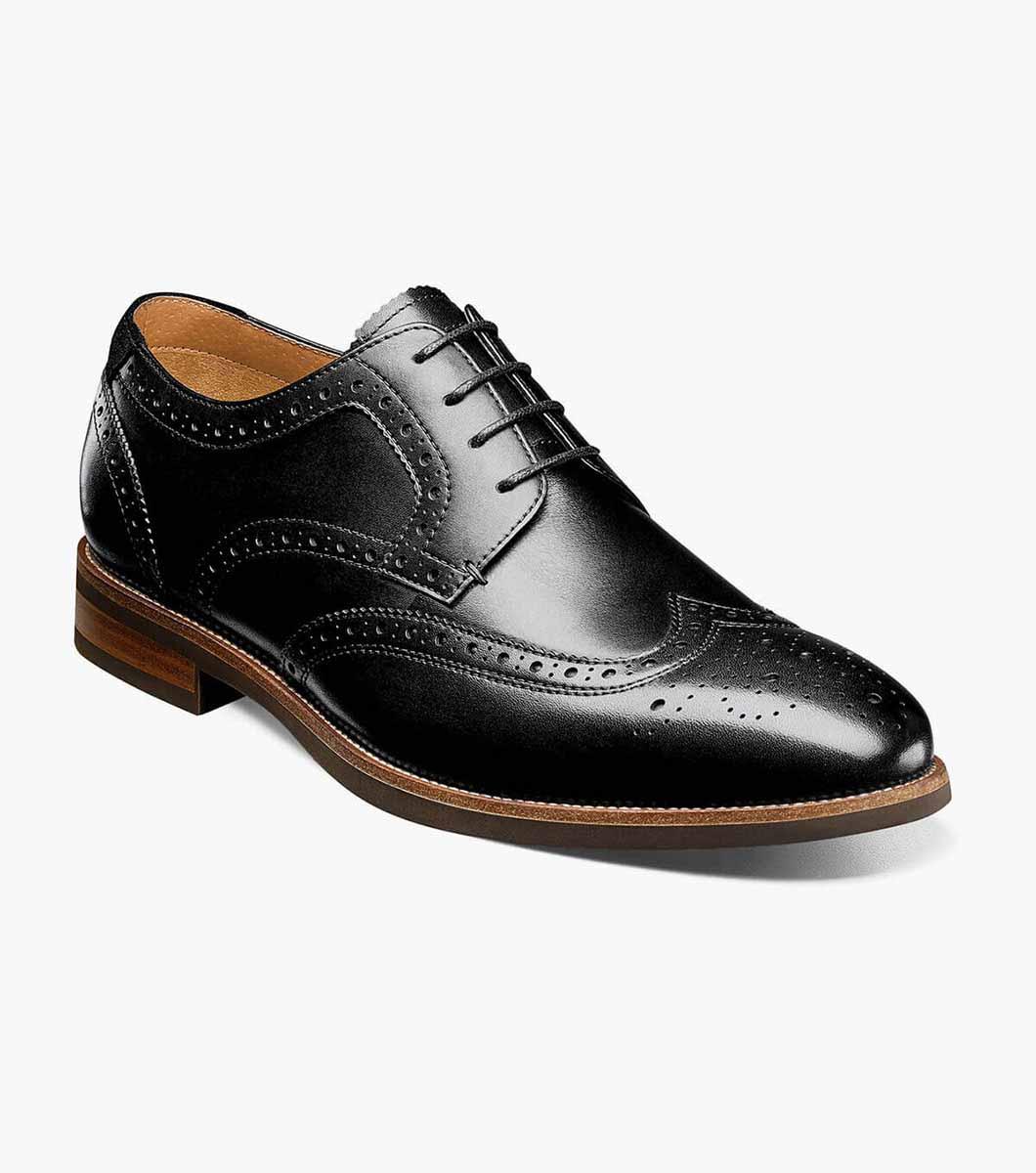 Florsheim Uptown Wingtip Oxford Dress Shoes Modern Black 15170-001