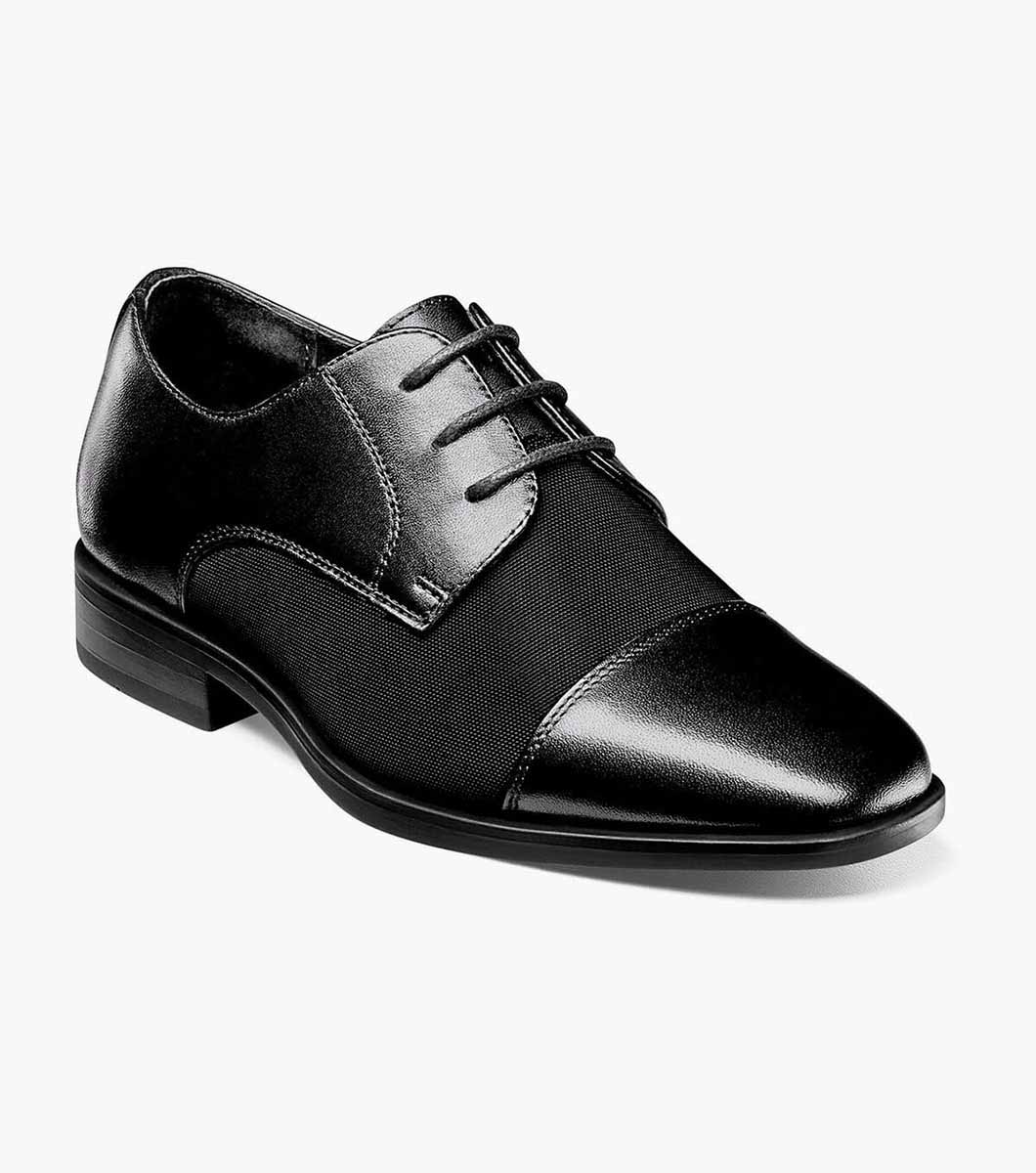 Boy's Dress Shoes | Black Cap Toe