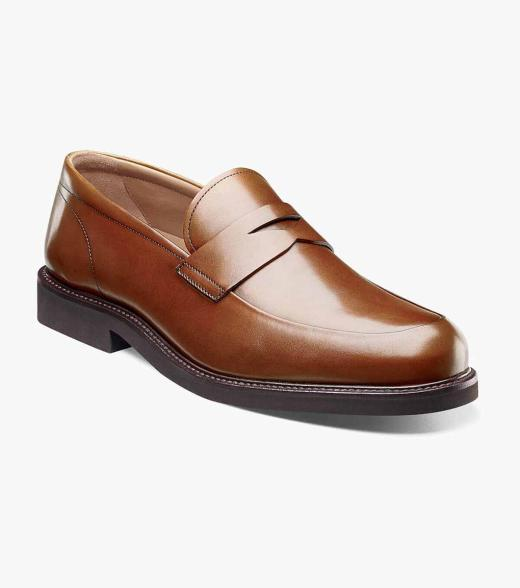 Gallo Florsheim Men's Gallo Moc Toe Leather Dress Penny Loafer