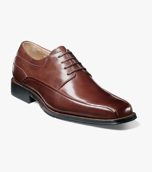 Curtis Florsheim Men's Curtis Bicycle Toe Leather Dress Oxford