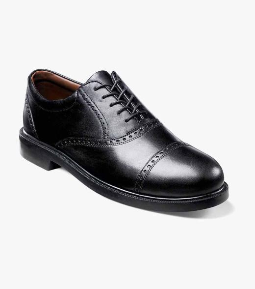 Florsheim Men's Noval Cap Toe Leather Classic Oxford