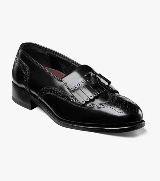 Florsheim Mens Black Dress Loafers Shoes Size 9.5 D Width Standard