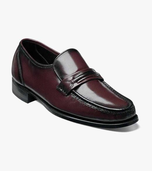 Florsheim Men's Como Moc Toe Leather Classic Slip On