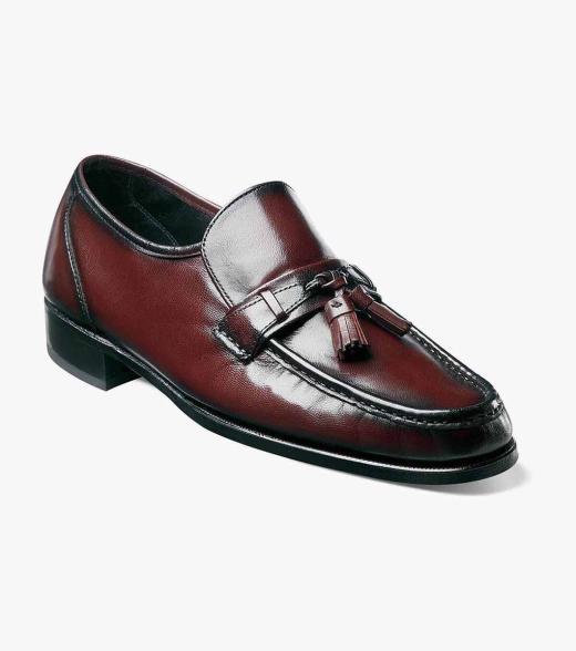 Como Florsheim Men's Como Moc Toe Tassel Leather Classic Loafer