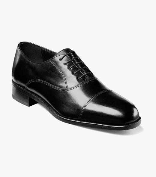 Florsheim Men's Edgar Cap Toe Leather Classic Oxford