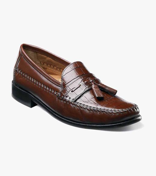 Florsheim Cognac Mens Swivel Tassel Loafers