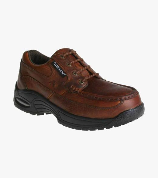 Polaris Mens leather composite toe lace up shoe