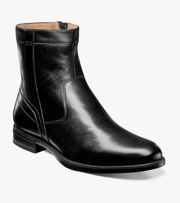 Midtown Plain Toe Zipper Boot
