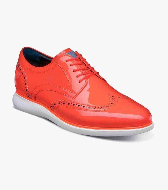 Fuel Reflect Neon Wingtip Oxford