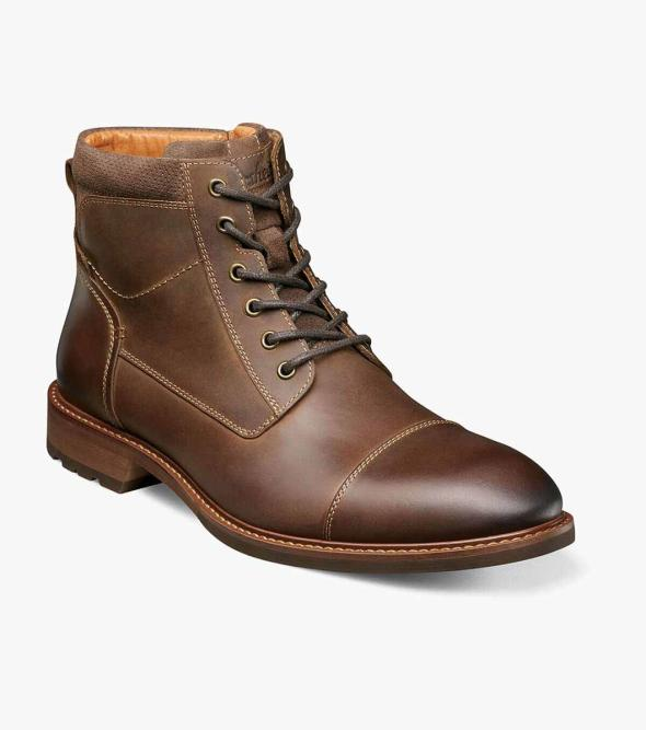 Lodge Cap Toe Lace Up Boot