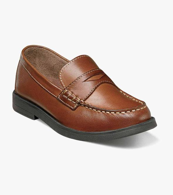 Croquet Jr. Moc Toe Penny Loafer