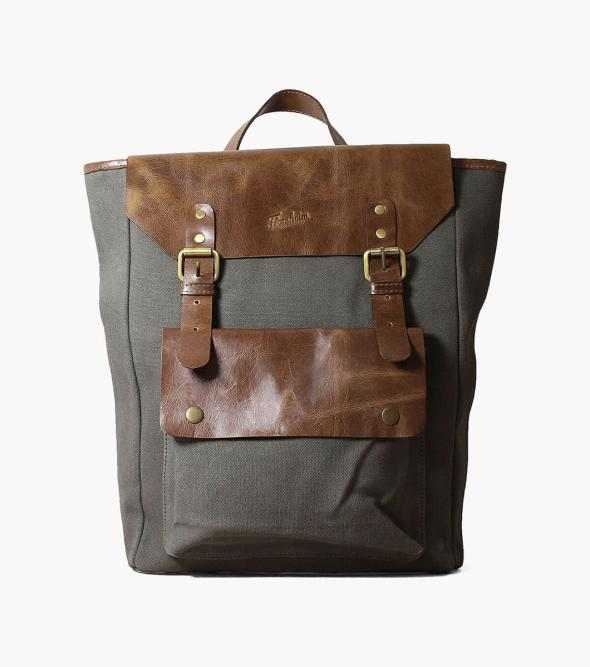 Orazio Canvas/Leather Backpack