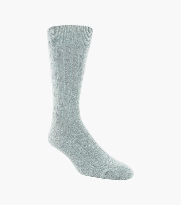 Wide Rib Men's Crew Dress Socks
