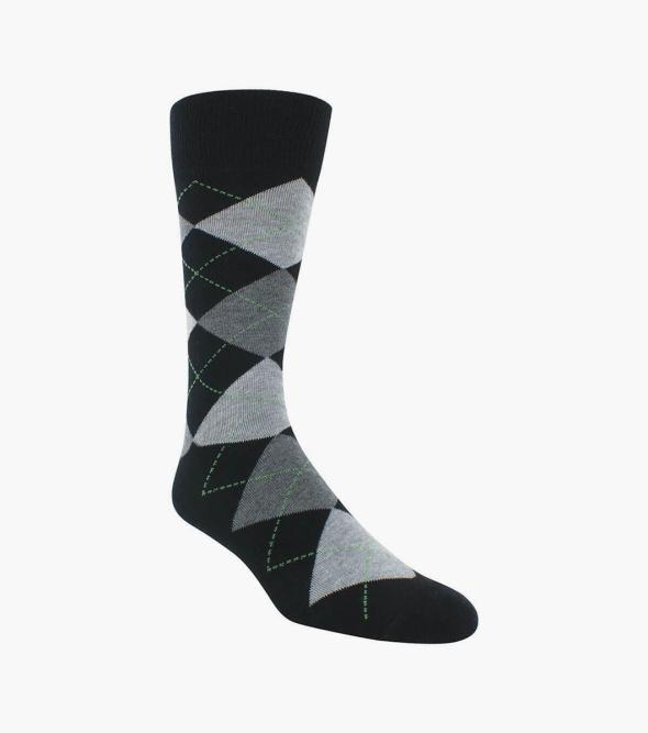 Classic Argyle  Men's Crew Dress Socks