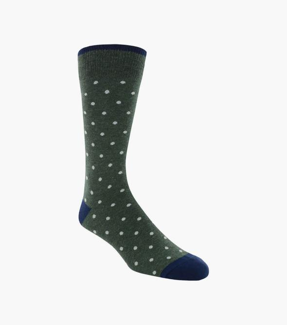 Dots Men's Crew Dress Socks