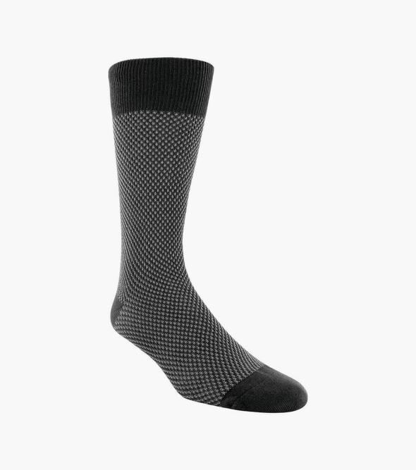 Double Birdseye Men's Crew Dress Socks