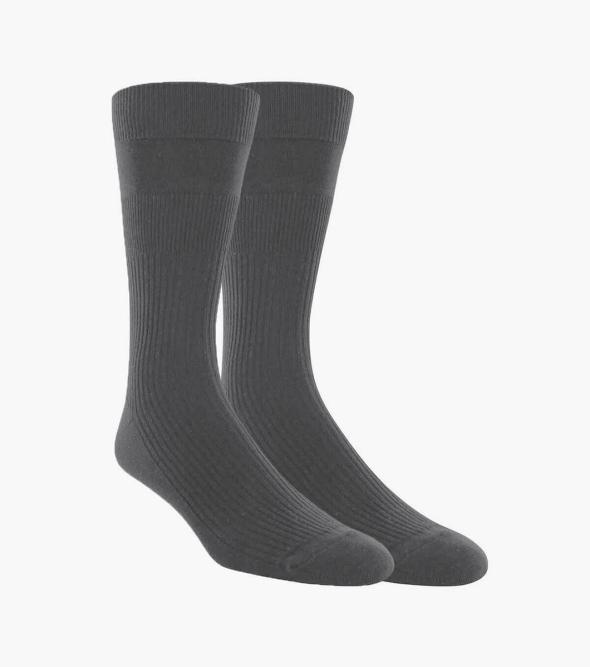 2-Pack Non-Binding Men's Crew Dress Socks