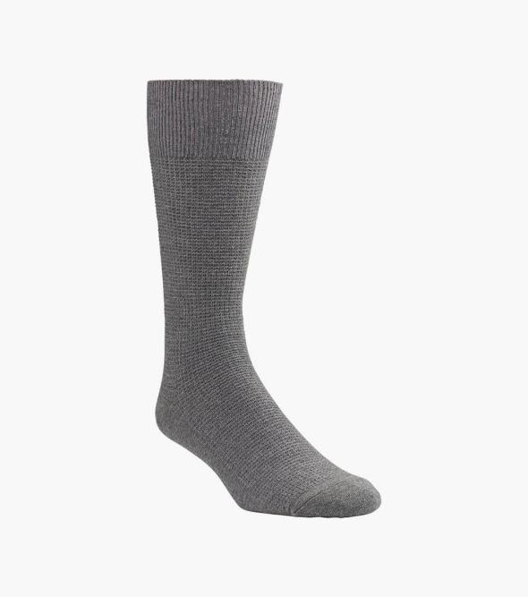 Waffle Knit Men's Crew Dress Socks