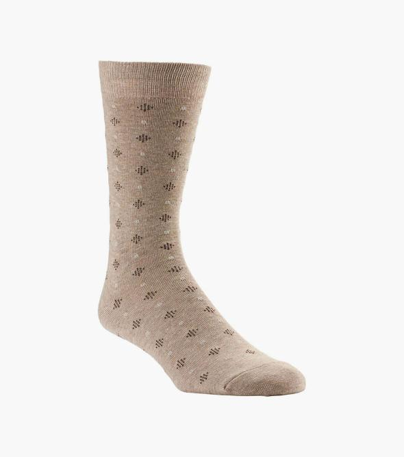 Diamond Dob Sock Men's Crew Dress Socks