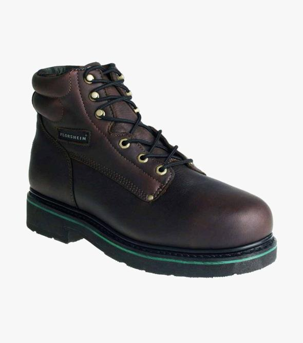 Utility Steel Toe Plain Toe Lace Up Boot