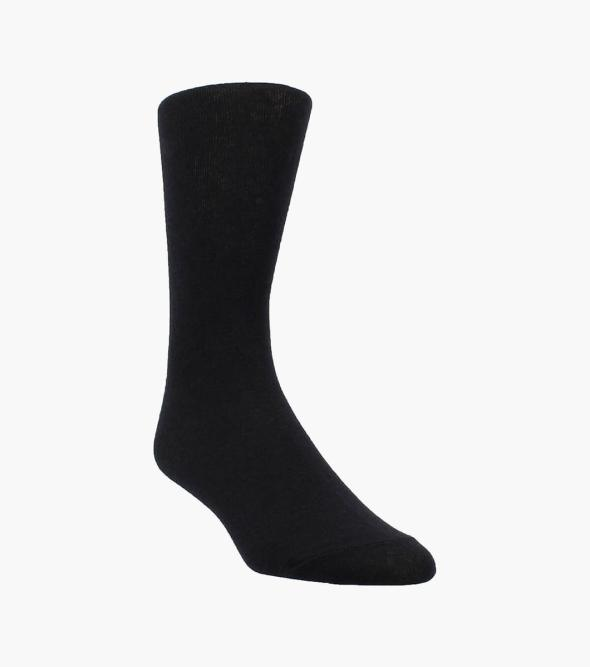 Plain Men's Crew Dress Socks