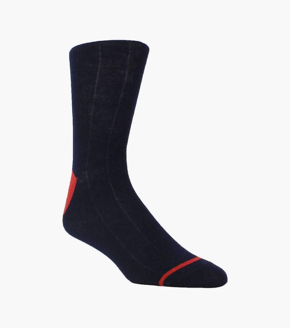 Wide Ribbed Men's Crew Dress Socks
