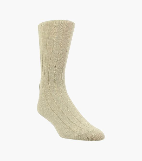 Classic Ribbed Men's Crew Dress Socks