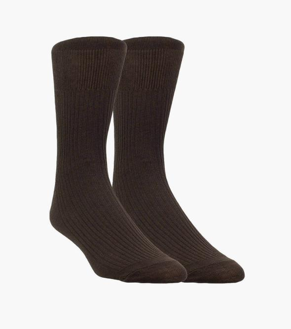 2-Pack Comfort Top Men's Crew Dress Socks