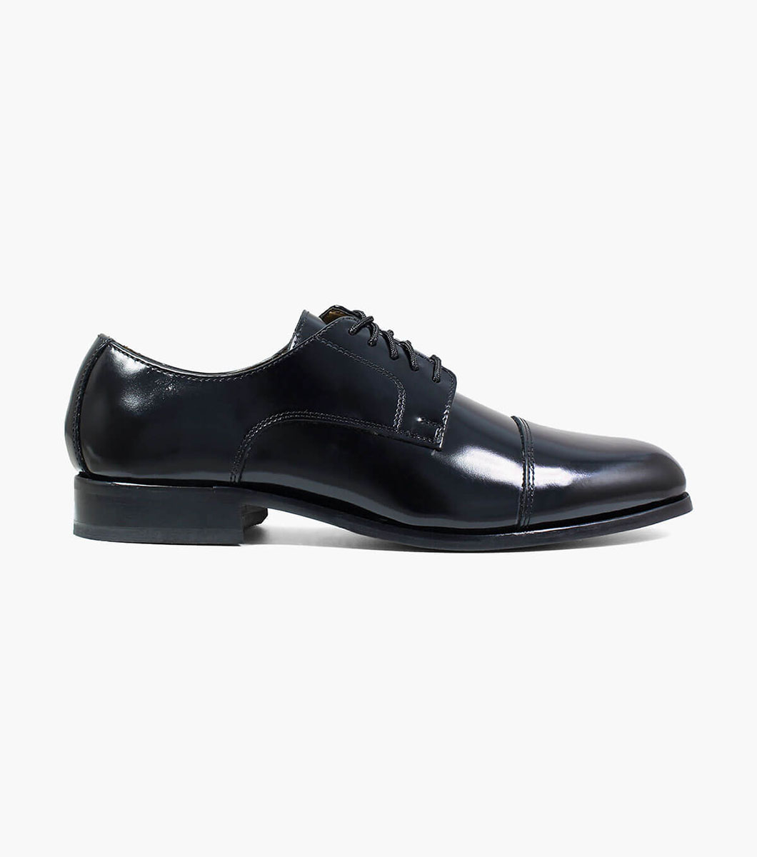 Mens Dress Shoes Black Cap Toe Oxford Florsheim Broxton