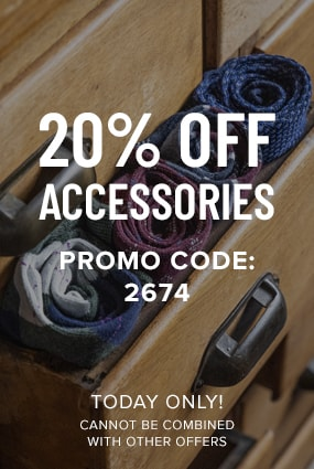 Men's Newest Shoes category. Click here to receive 20% off accessories! Valid today only using promo code 2674. Cannot be combined with any other offers.