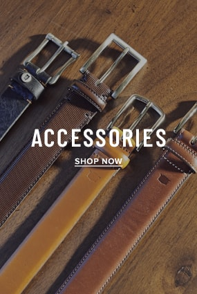 Black Shoes category. The featured image is an array of Florsheim belts. Click to shop the Florsheim belts category.
