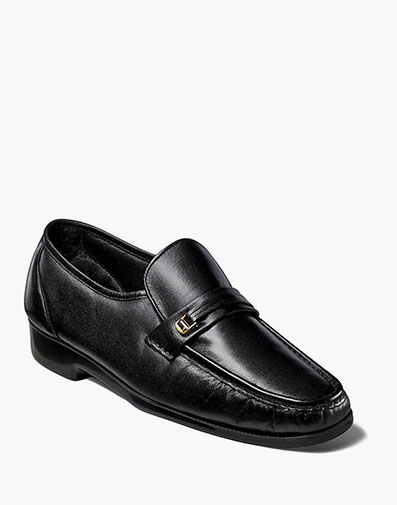 Milano Moc Toe Bit Loafer in Black for 100.00 dollars.