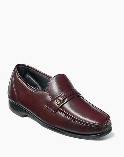 Milano Moc Toe Bit Loafer in Burgundy for 100.00 dollars.