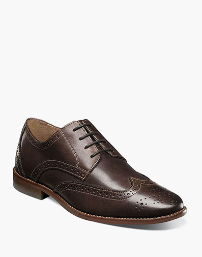Finley Wingtip Oxford in Brown for 39.90 dollars.