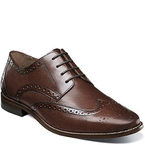 Finley Wingtip Oxford in Brown Tumbled for 49.90 dollars.