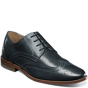 Finley Wingtip Oxford in Navy for 39.90 dollars.