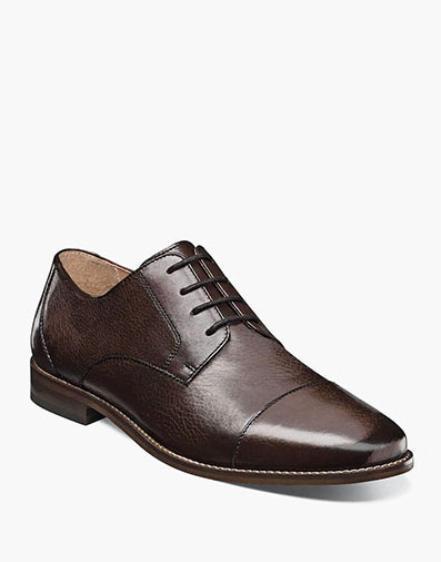 Finley Cap Toe Oxford in Brown Tumbled for 49.90 dollars.