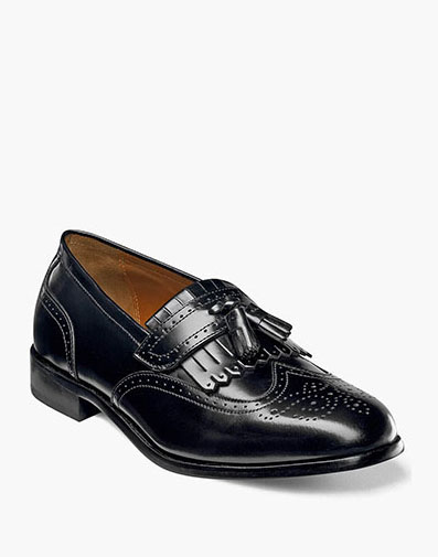 Brinson Wingtip Tassel Loafer in Black for 49.90 dollars.