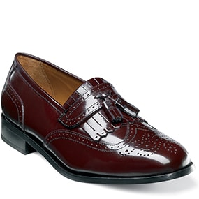 Brinson Wingtip Tassel Loafer in Burgundy for $79.90