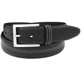 Parker Casual Genuine Leather Belt in Black for $30.00