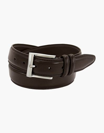 Martin Pebble Grain Leather Belt in Brown for $35.00