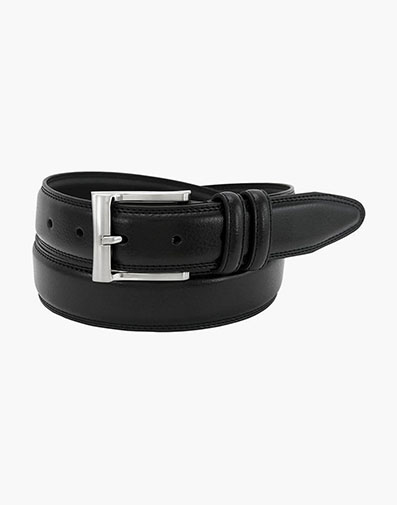 Martin XL Pebble Grain Leather Belt in Black for $46.00
