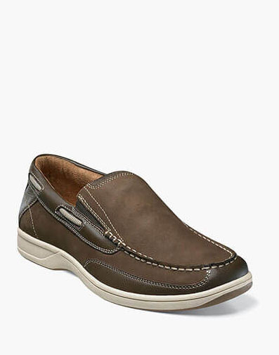 Marina Slip On Boat Shoe in Brown for 90.00 dollars.