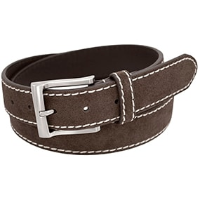 Clark Genuine Suede Belt in Chocolate for $19.90