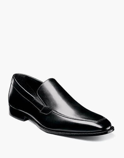 Jacobi Moc Toe Slip On  in Black for 190.00 dollars.