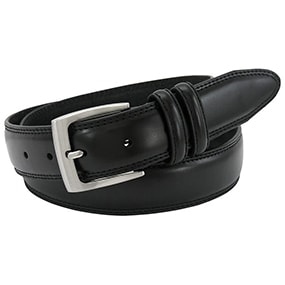 Maric Smooth Genuine Leather Belt in Black for $21.90