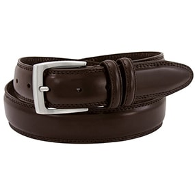 Maric Smooth Genuine Leather Belt in Brown for $21.90