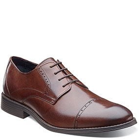 Merano Cap Toe Oxford in Brown for 49.90 dollars.